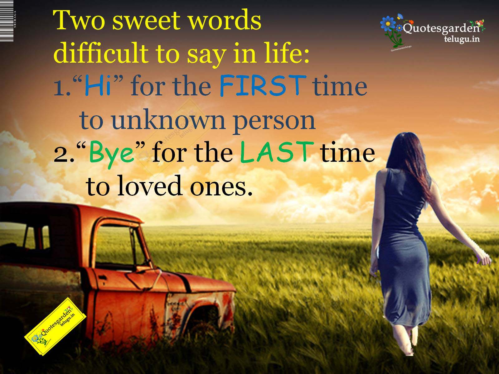 two sweet words very difficult to say in life heart