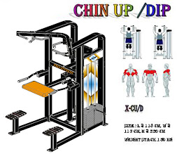 Chin up Dip Machine Black