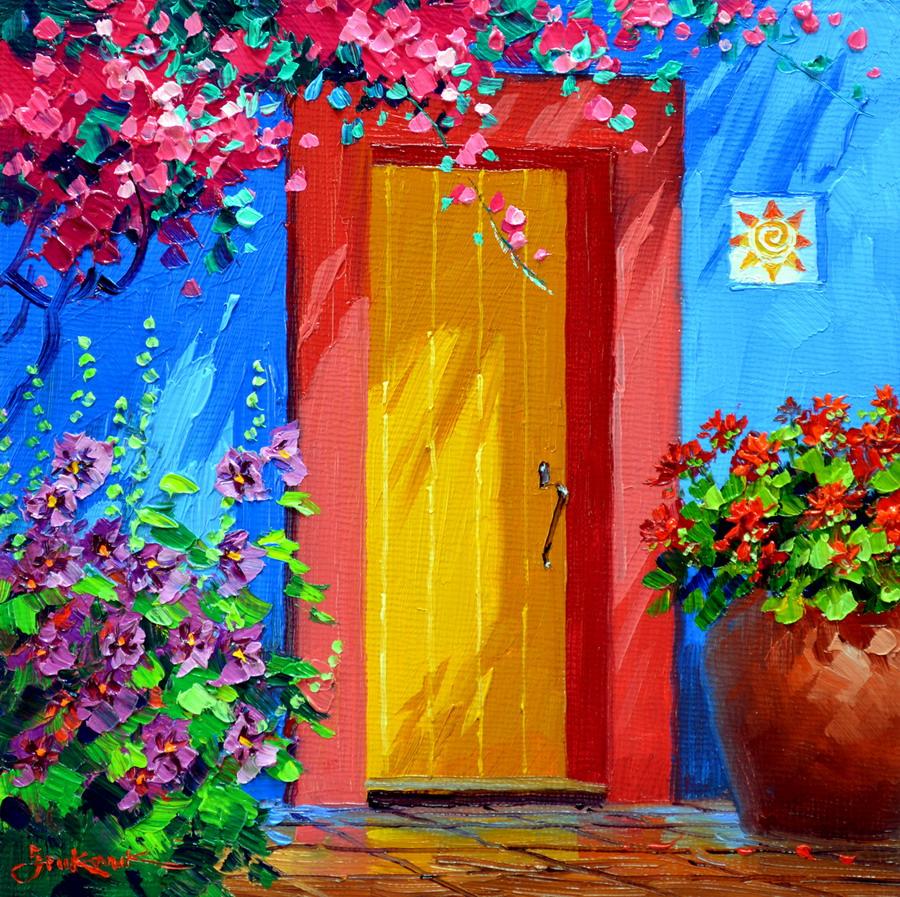 Cuadros modernos pinturas y dibujos vistosos paisajes de for Pinturas bonitas para casas