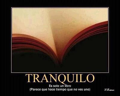 Tranquilo, es solo un libro