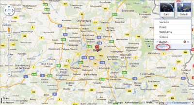 Mit My Maps selbst erstellte Karte über Berlin