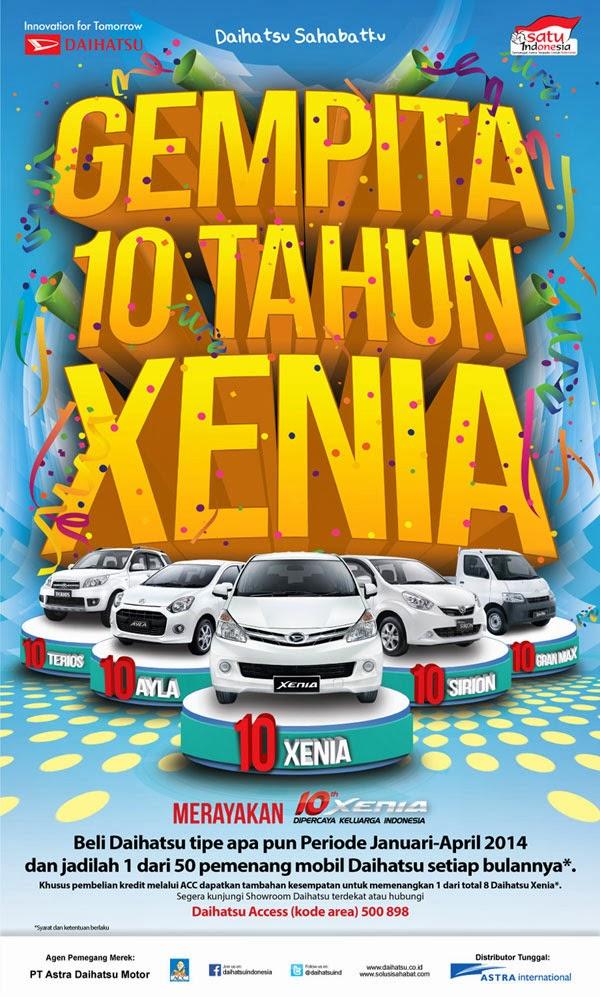 Gempita 10 Tahun Daihatsu Xenia untuk Keluarga Indonesia di otospek.com Info Spesifikasi dan berita Otomotif Media
