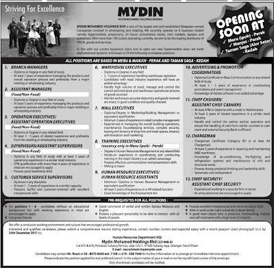 mydin business profile Recruiting workforce for disabled workers (mydin mohamed   of workers from different racial and ethnic background of different ages and  genders,  mydin business activity is in retailing and wholesaling.