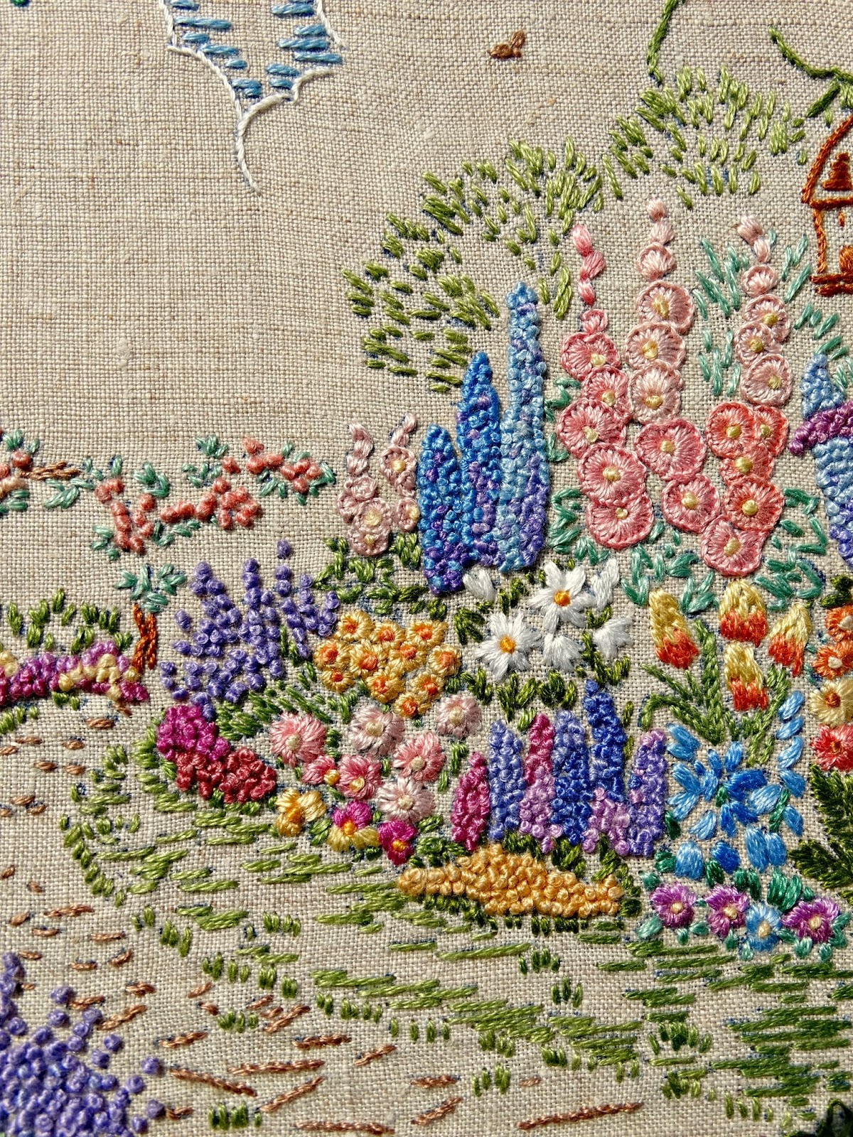 a vintage embroidered garden a saucy stitch - Embroidery Garden