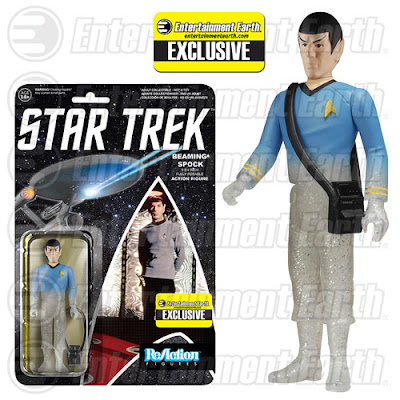 "Entertainment Earth Exclusive Star Trek: The Original Series ""Beaming"" Spock ReAction Retro Action Figure by Funko & Super7"