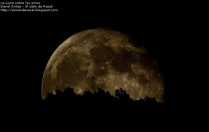 Luna saliendo - El cielo de Rasal