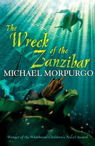 Portada británica de The Wreck of the Zanzibar, de Michael Morpurgo