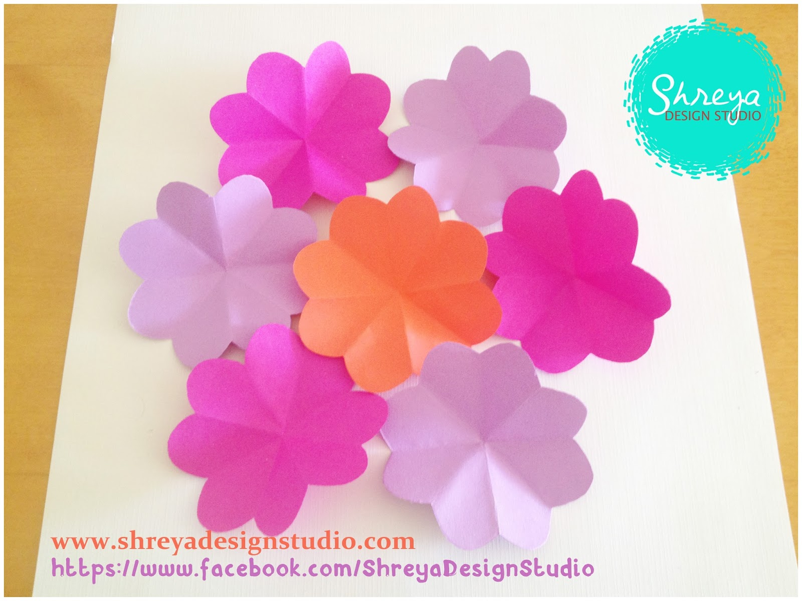 Tutorial how to make a seven flower pop up card shreya design studio mightylinksfo