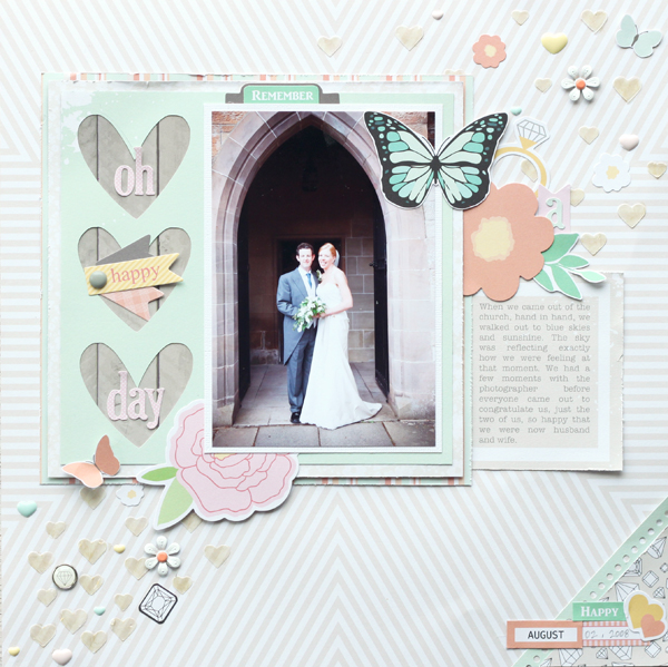 Meghann Andrew Chickaniddy Crafts Oh Happy Day Layout