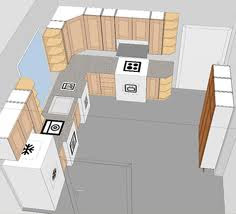 kitchen layout the design of the kitchen should be triangle theory between cooker fridge and sink the distance between them should be small