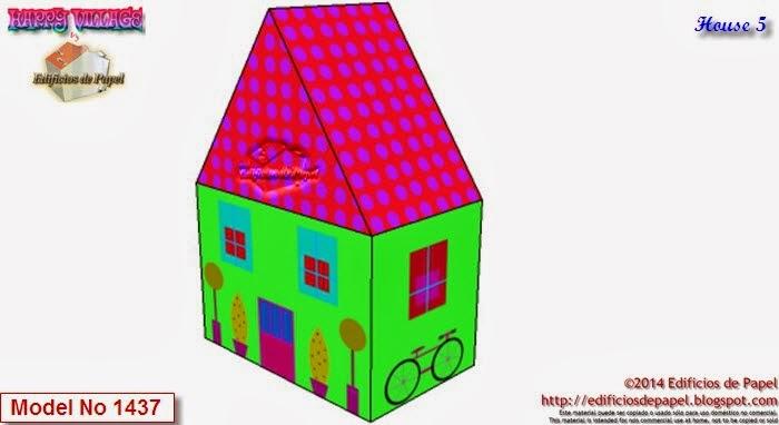 Construye tu Happy Village descargándolo gratis desde http://edificiosdepapel.blogspot.com