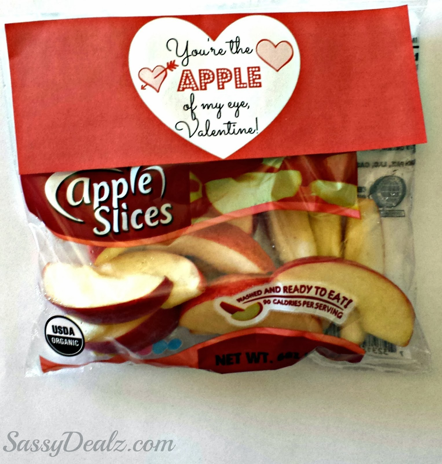 non-candy valentines apples