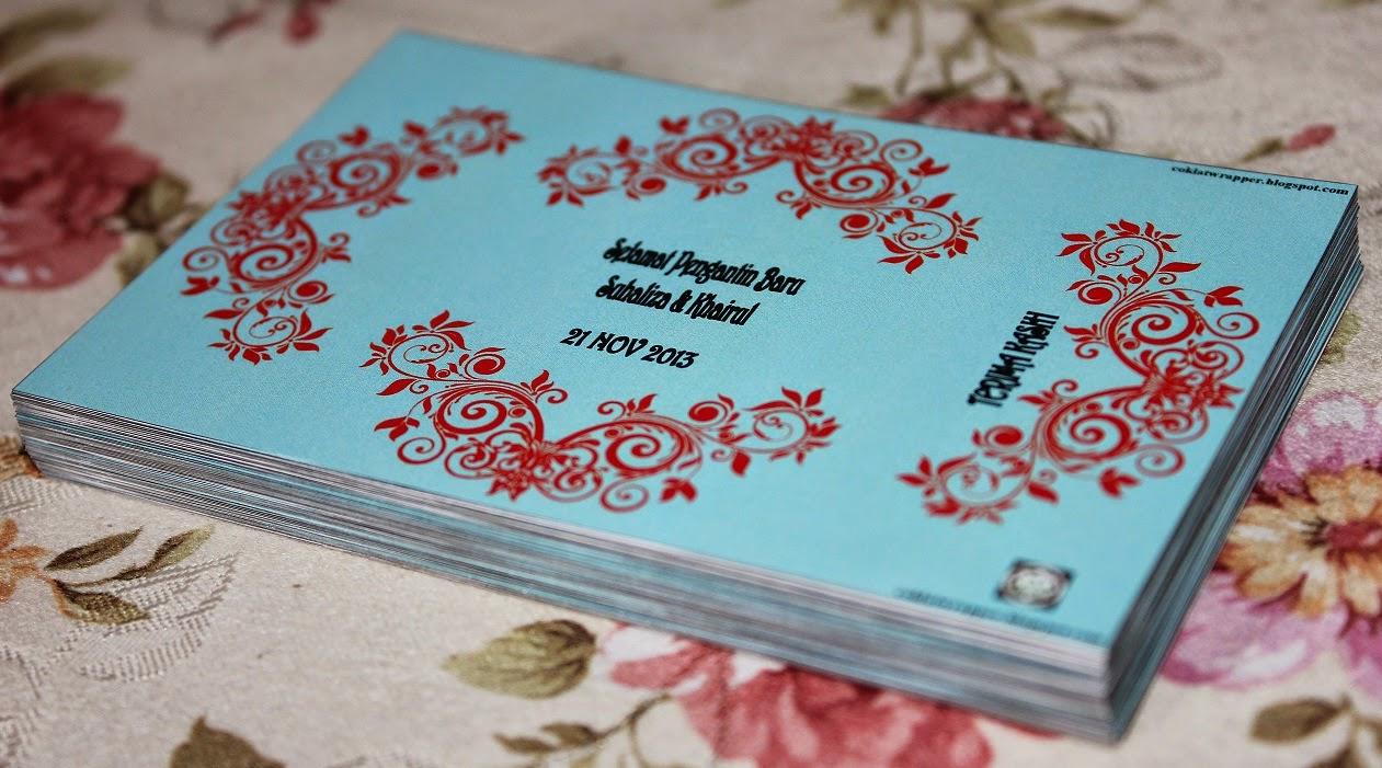 Coklat Wrapper untuk Majlis Perkahwinan Suhaliza dan Khairul