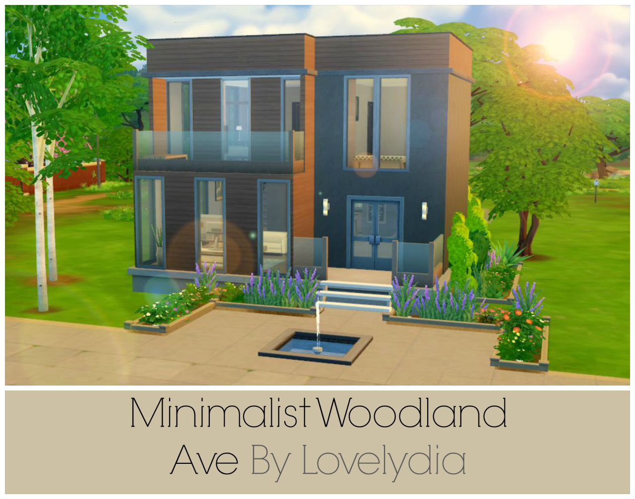My sims 4 blog minimalist woodland house by lovelydia101 for Minimalist house blog