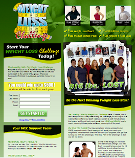 Weight Loss Challenge Website (I'm a former Herbalife Independent Distributor)