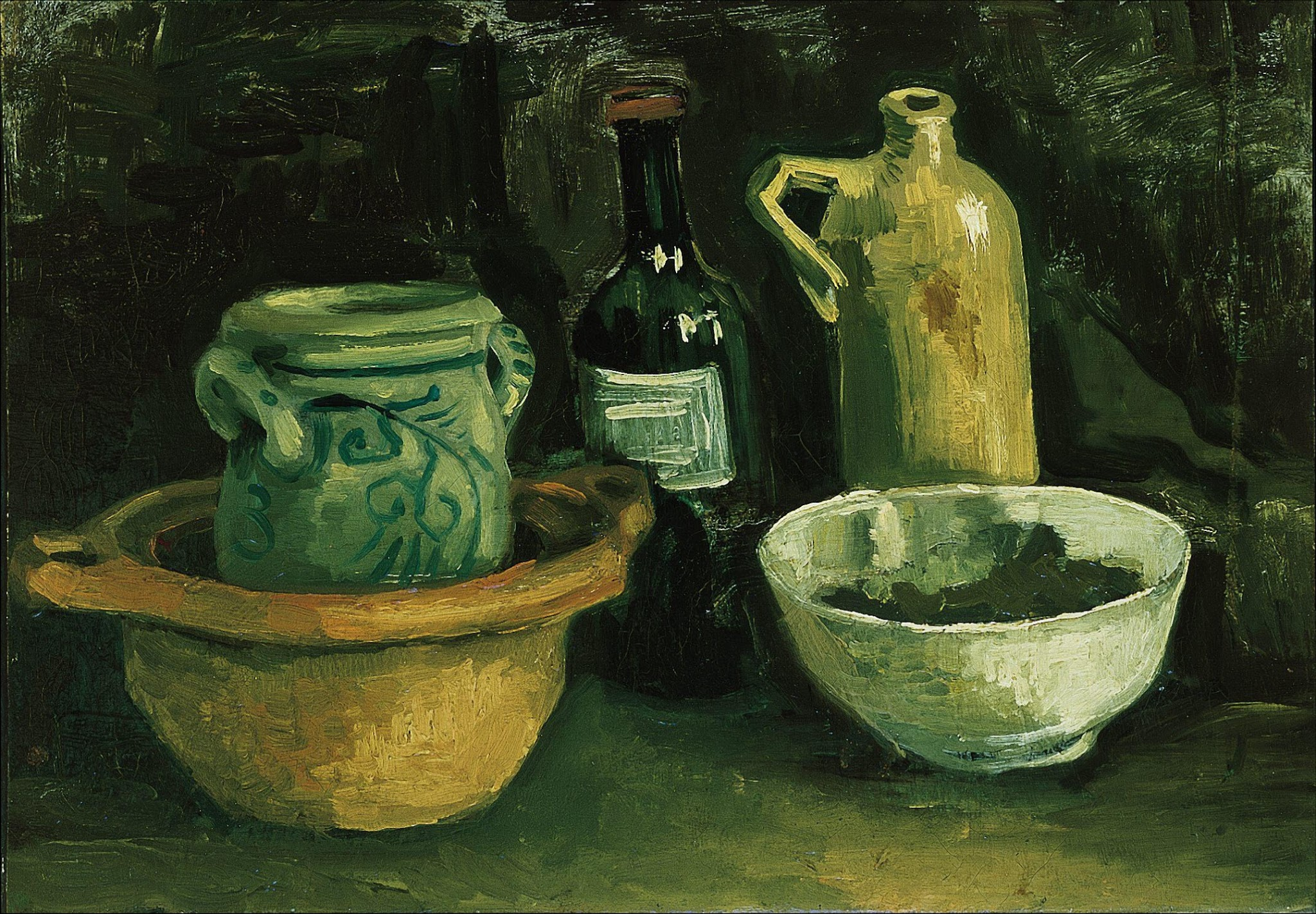 Still Life with Pottery and Two Bottles (F 57, JH 539) by Vincent van Gogh