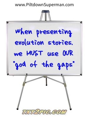 "One way evolutionists misrepresent biblical creationists is to accuse them of invoking a ""God of the gaps"" approach to science. Actually, evolution is a god of the gaps!"