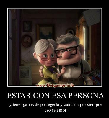 Estar con esa persona y tener ganas de protegerla y cuidarla por seimpre eso es amor