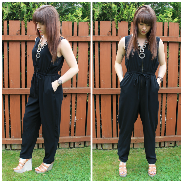 black Primark jumpsuit