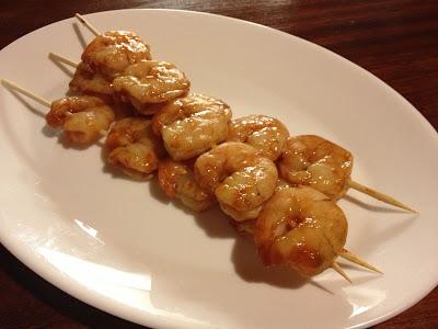 cooked sriracha prawns