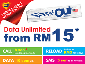 Thumbnail image for Simkad SpeakOut Prepaid Internet 30GB Sebulan