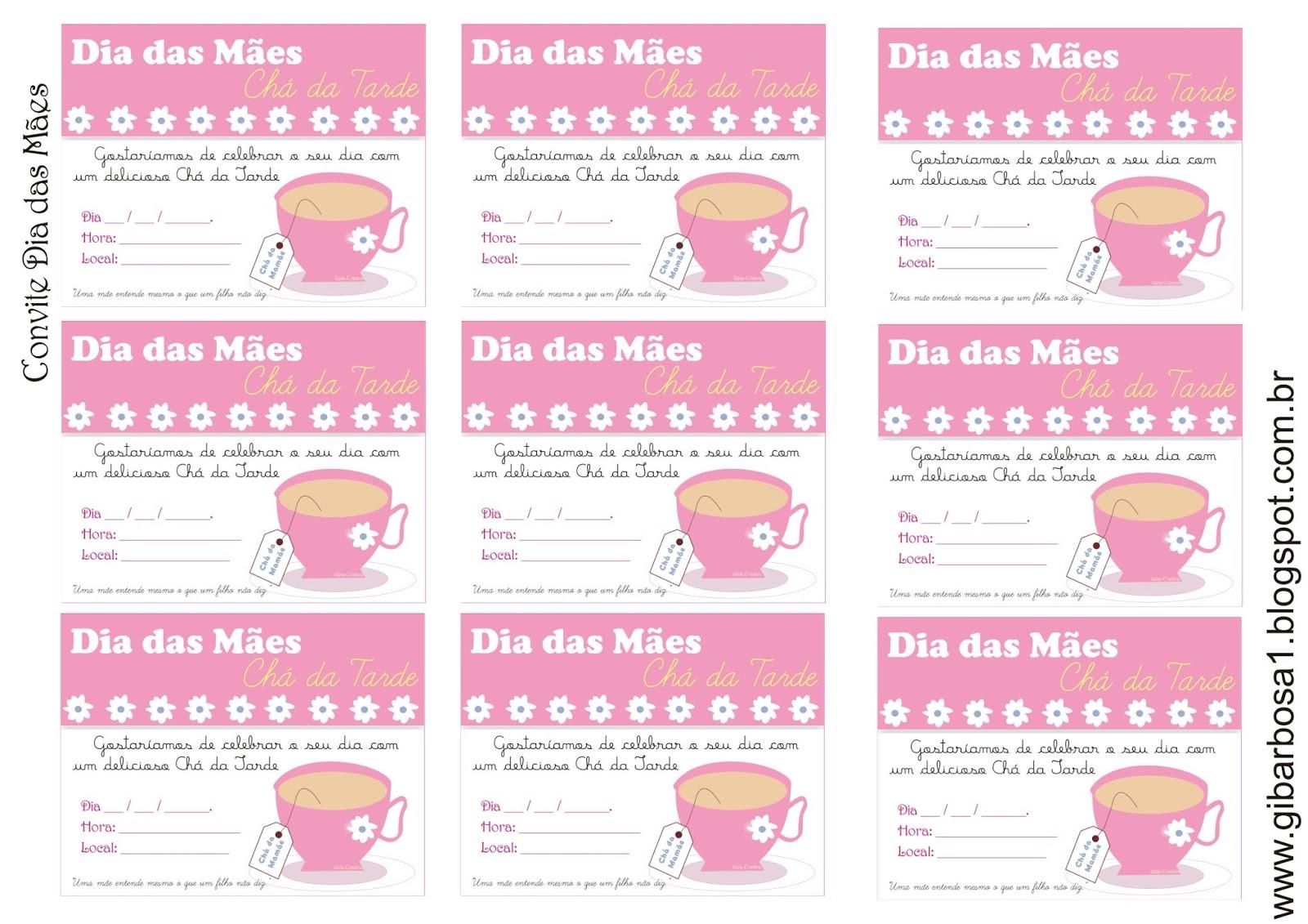 Muitas vezes Convite para Chá de Dia das Mães com Recital de Poesia | Ideia  IM53