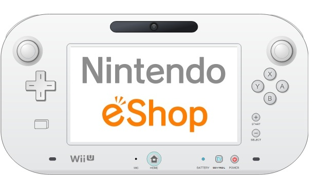 Nintendo eShop logo on Wii U GamePad