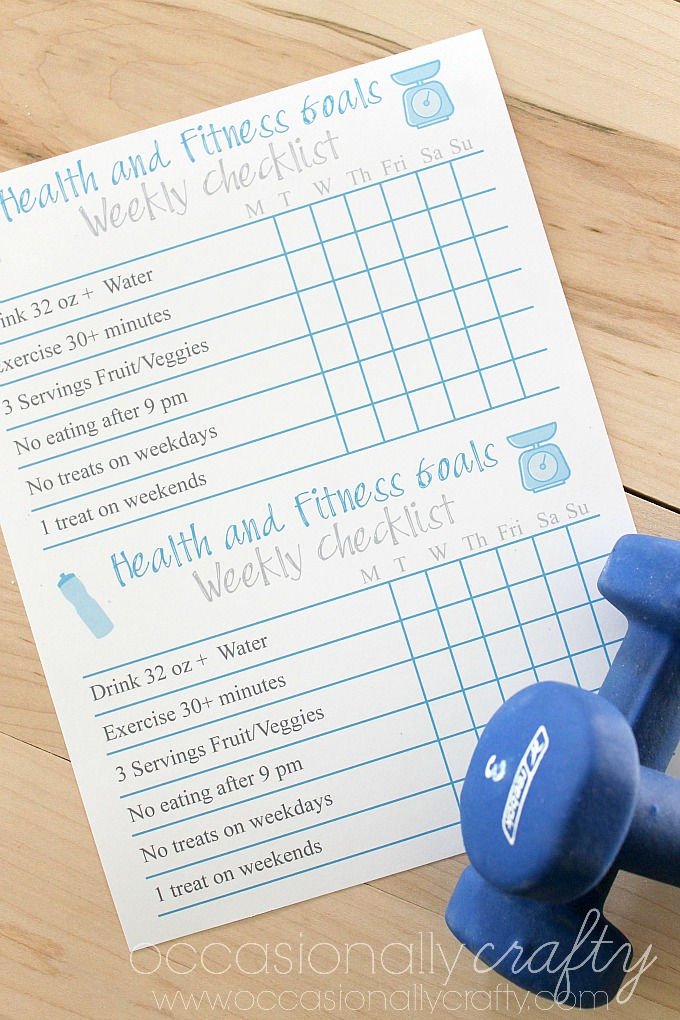 keep yourself on track with your health and fitness goals with this free printable weekly goal