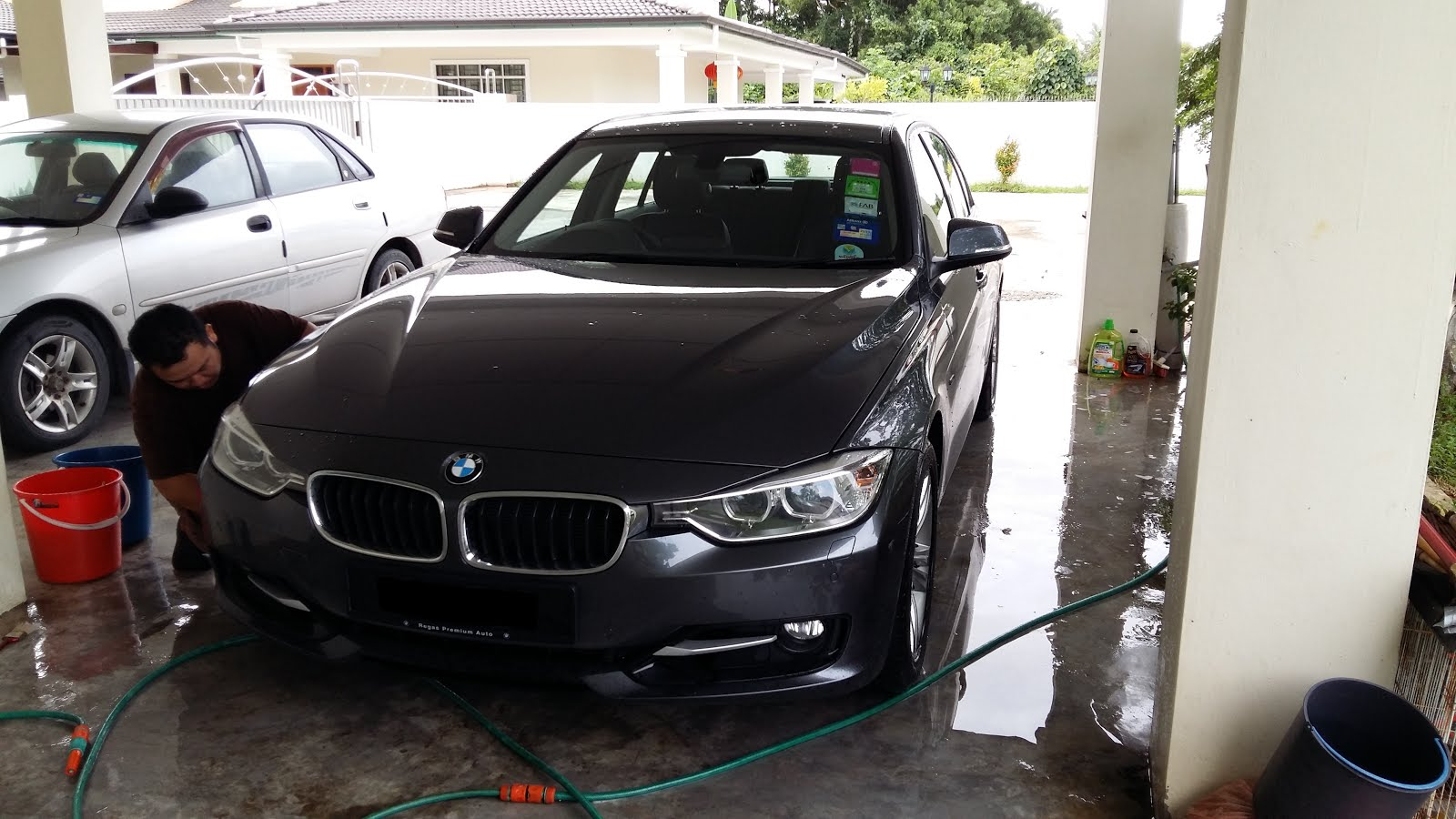 Car sticker design kuching - As Soon As Daylight Starts We Also Started Washing Claying Decontaminate And Polish Car For Car Coating