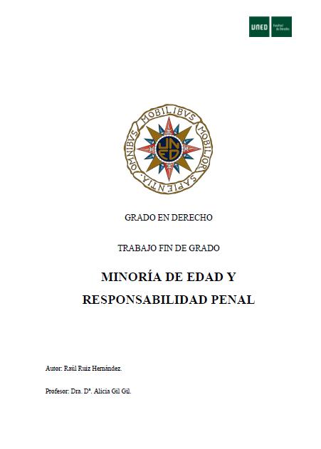 Minoría de edad y responsabilidad penal
