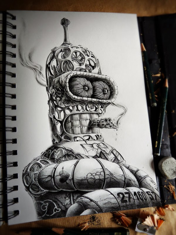 Distroy, por PEZ Artwork, Bender Futurama