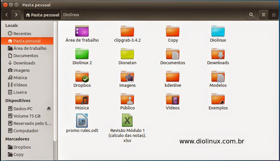 Pastas Coloridas no Ubuntu