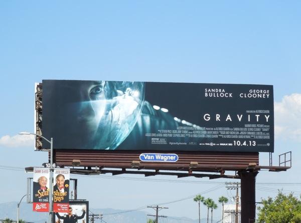 Gravity astronaut helmet billboard
