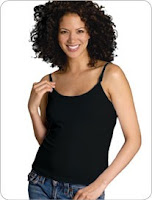 GlamourMom Nursing Vest Breastfeeding Black