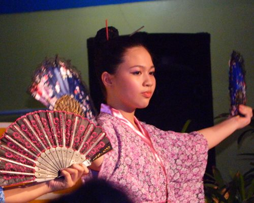 Japanese fan dancer, Japan costume