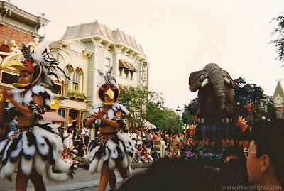 Lion King Celebration Disneyland elephant dancers parade