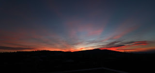 Sunset panorama from the roof terrace