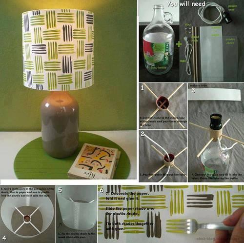 Lamparas de papel pantallas para decoraci n - Como hacer una lampara de mesa ...