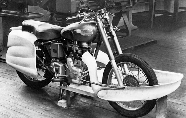 Royal Enfield Dreamliner brought streamlining to motorcycles.