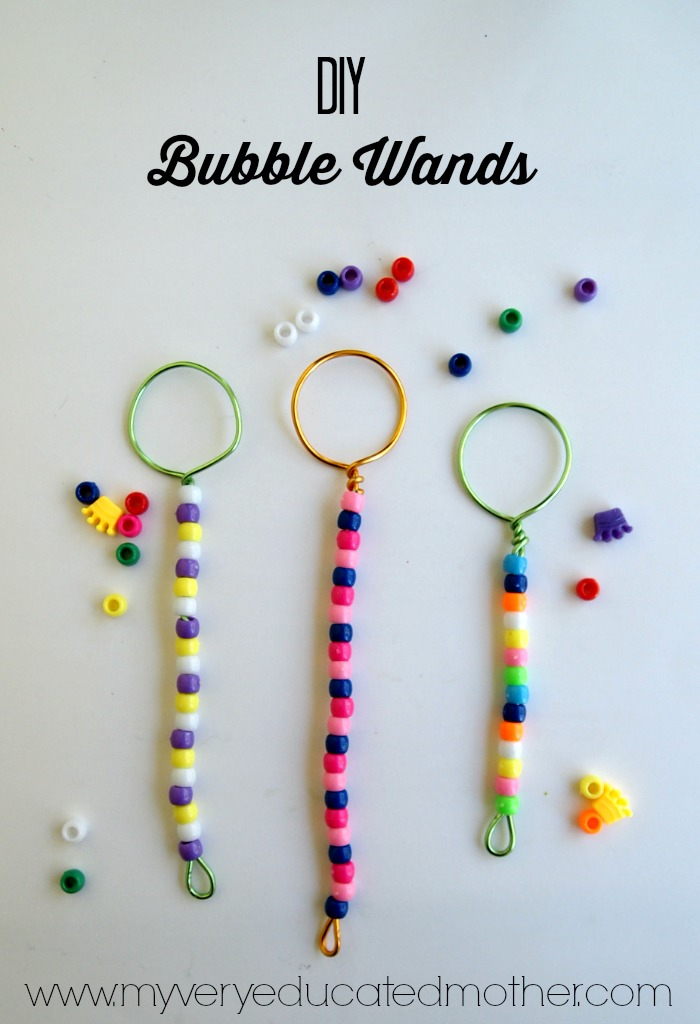 It's super easy to make your own bubbles and wands!