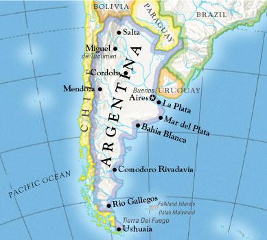 Mapa de Argentina Completo
