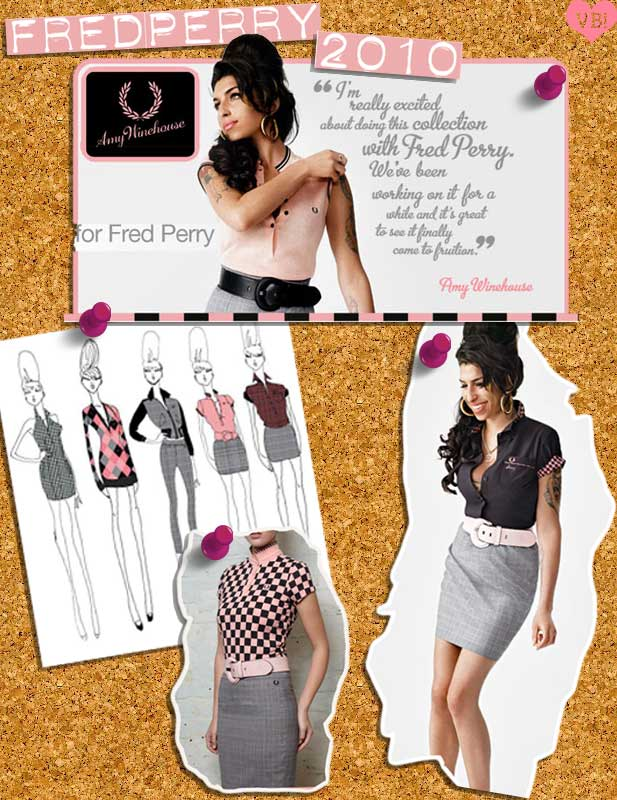 amy winehouse fred perry new collection