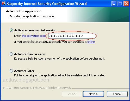 Free Kaspersky 2011 Activation Keys And Codes - applicationadvisors