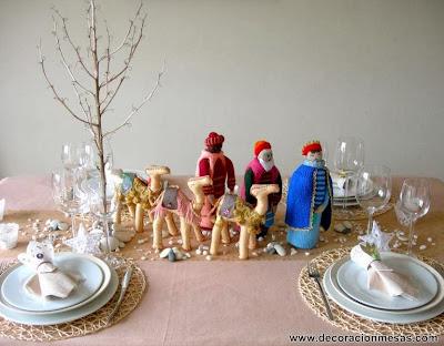Decoracion de mesa de Reyes Magos