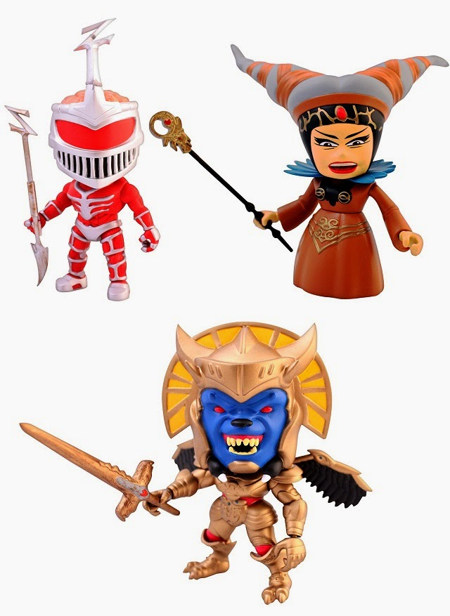 Mighty Morphin Power Rangers Mini Figure Series 1 by The Loyal Subjects - Rita Repulsa, Goldar, & Lord Zedd