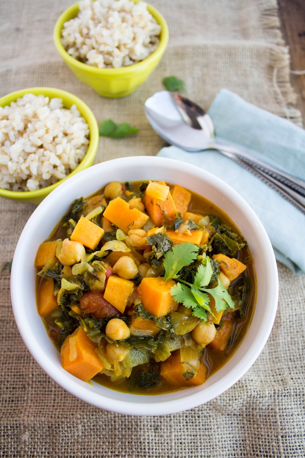 Jackie Cooks: Kale, Sweet Potato, and Chickpea Curry