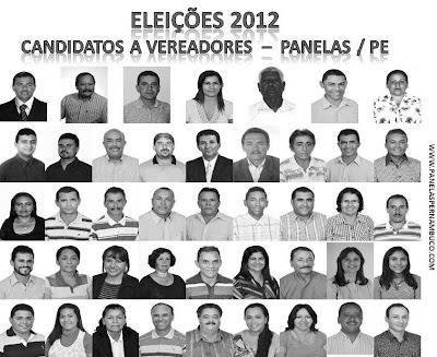 Candidatos a vereadores 2012