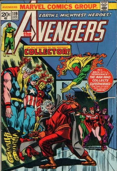 Avengers #119, the Collector is back - and it's Halloween