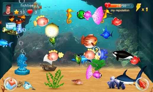 Balık Besleme (Fish Live) Android Apk Oyun resimi 1