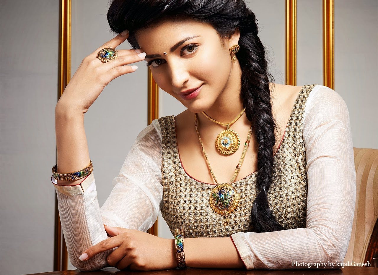 Shruti Haasan Jewellery Ad Photo Shoot
